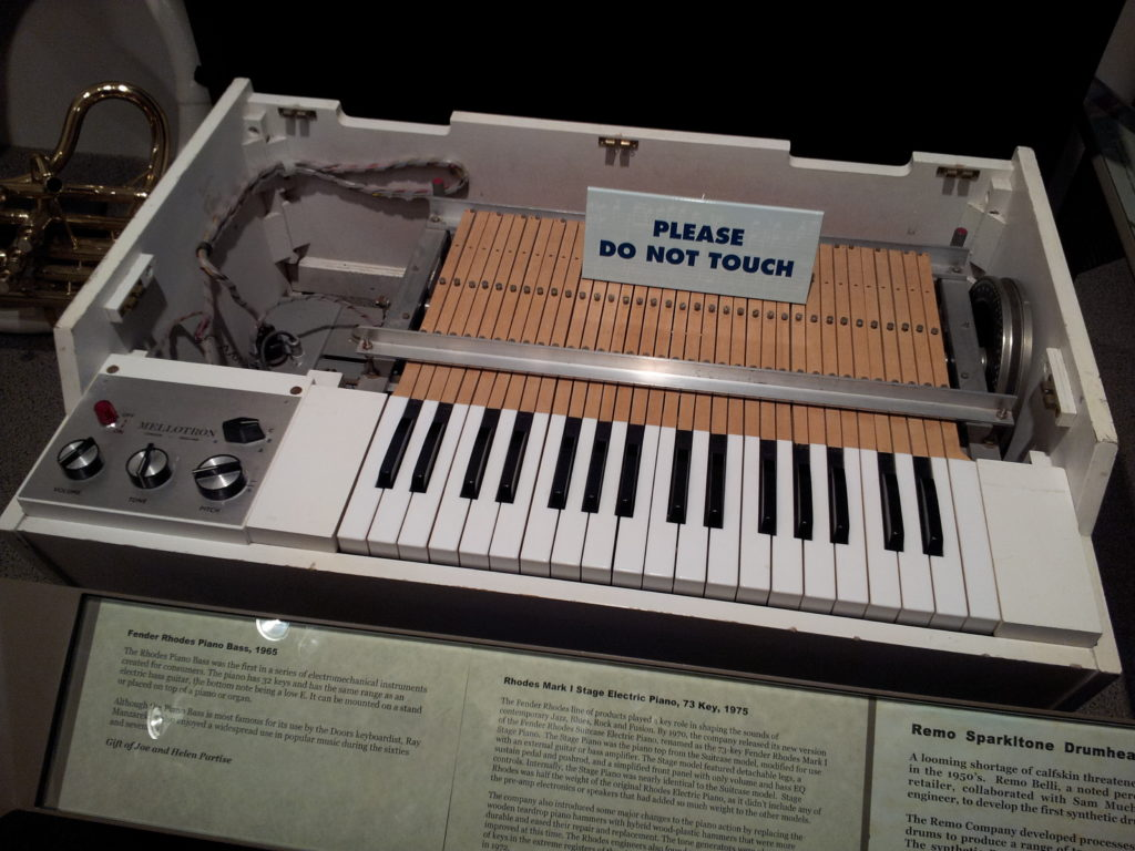 A Mellotron, as featured in the song Mellotron by Stereolab, the best undiscovered music
