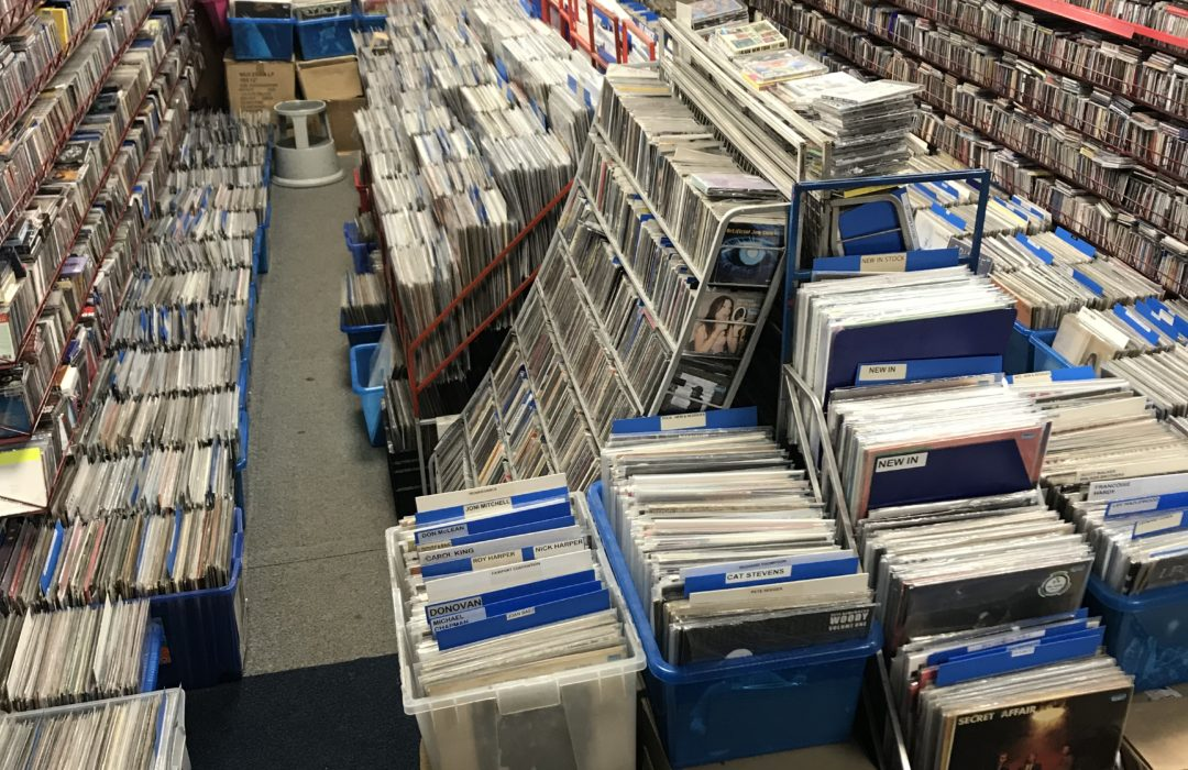 Basement of X Records in Bolton - fantastic record store
