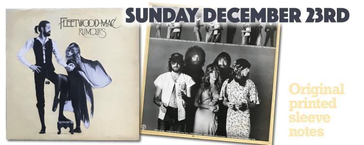 Fleetwood Mac - Rumours Sunday Night Spin