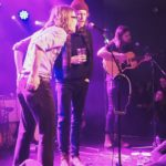Sammy Brue performs with Taylor Meier and Matt Vinson of Caamp at Oslo, Hackney, London 6th February 2019