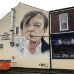 Mark E Smith mural Clifton Road Prestwich