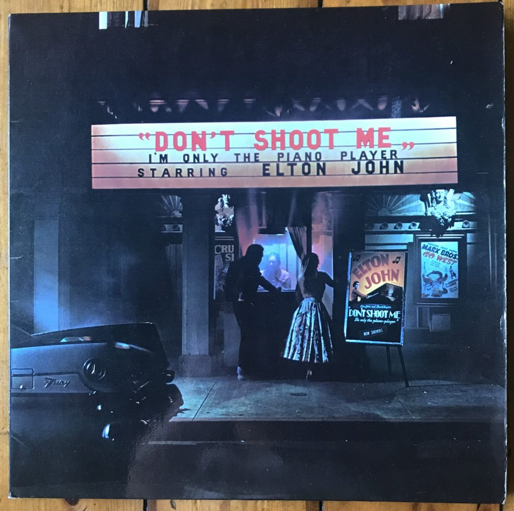 Elton John DJLPH 427 Don't Shoot Me I'm Only the Piano Player 1973 1st edition translucent black vinyl