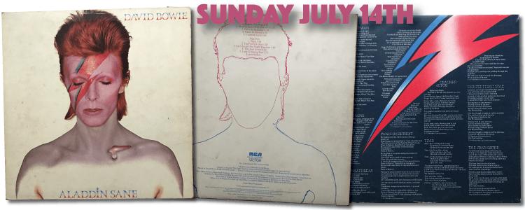 David Bowie Aladdin Sane LP 1973 gatefold