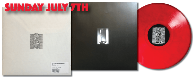 joy division unknown pleasures 40th anniversary heavyweight ruby red vinyl FACT 10 40