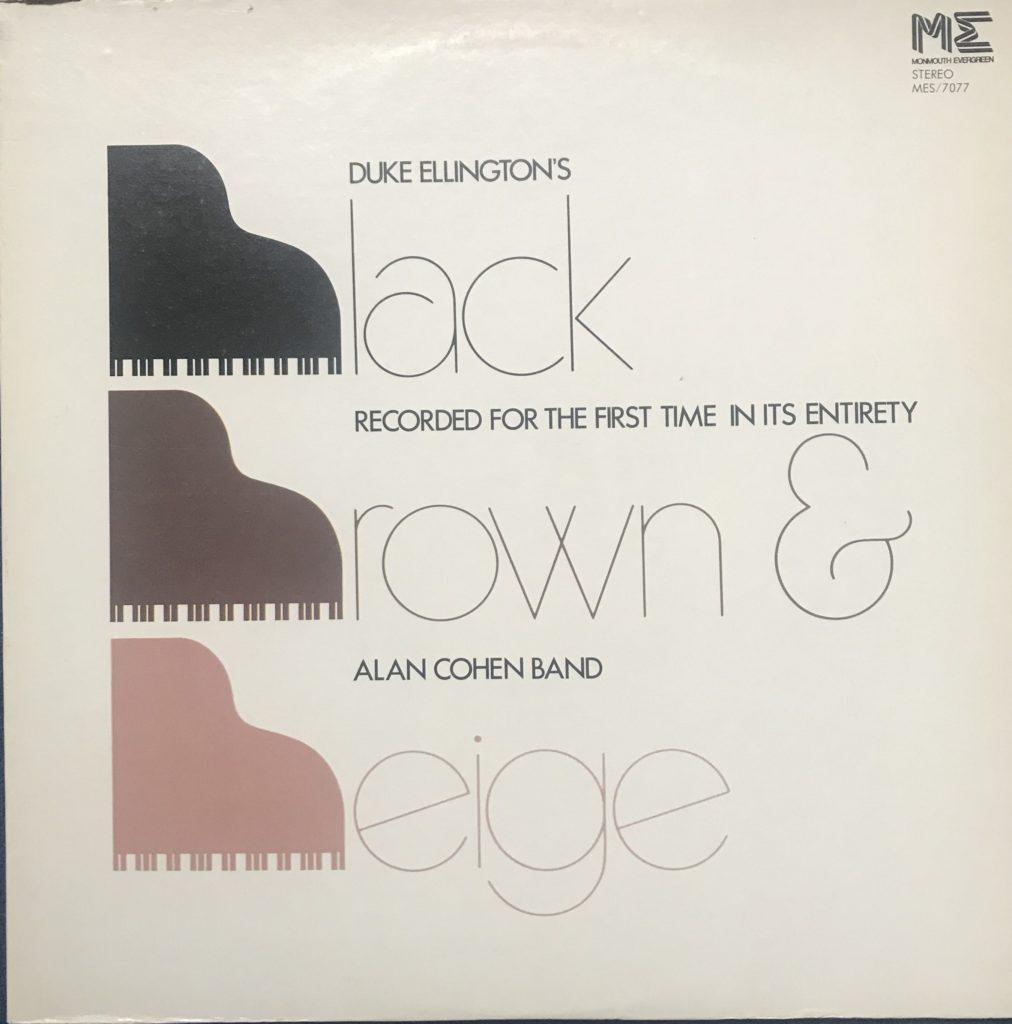 MES/7077 Alan Cohen Band Duke Ellington black brown and beige