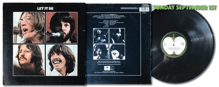 The Beatles Let It Be 1970 vinyl LP